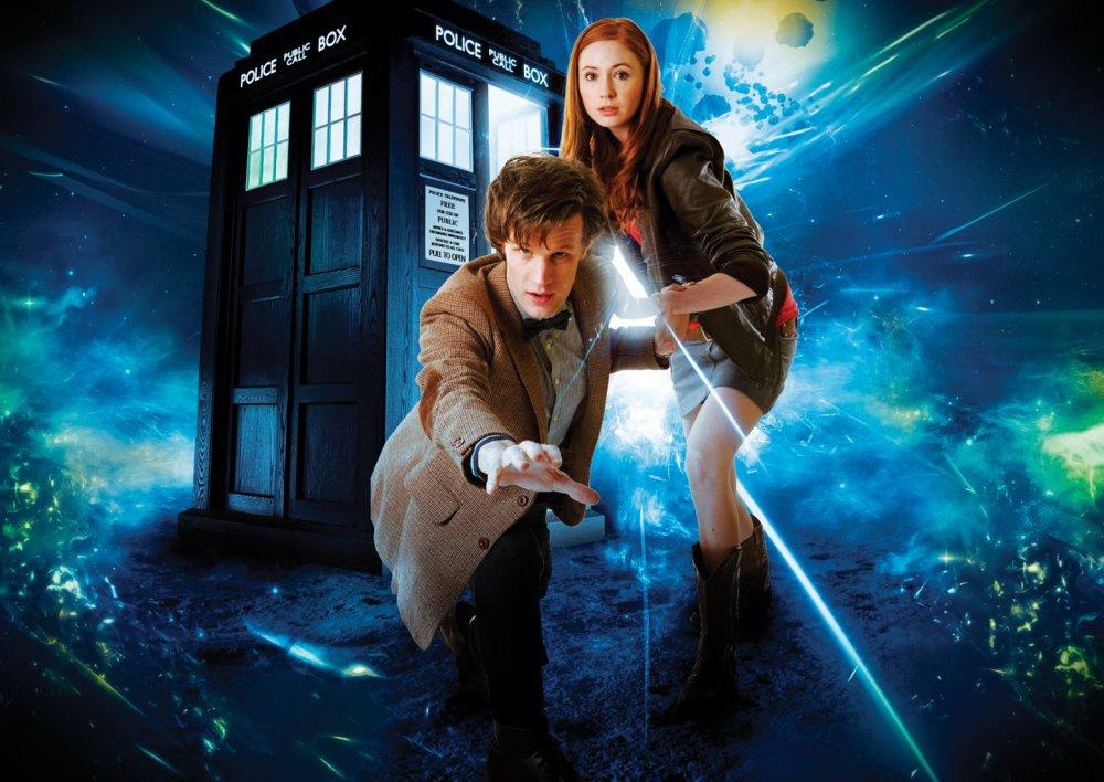 Matt Smith and Karen Gillan in Doctor Who (2005-)