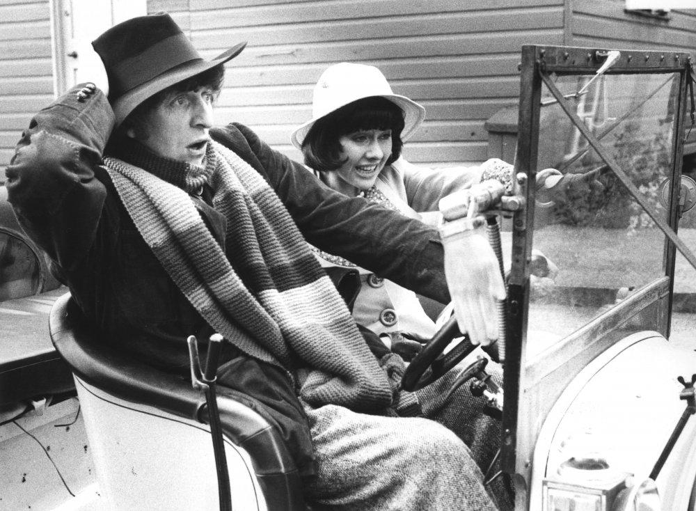Elizabeth Sladen with Tom Baker