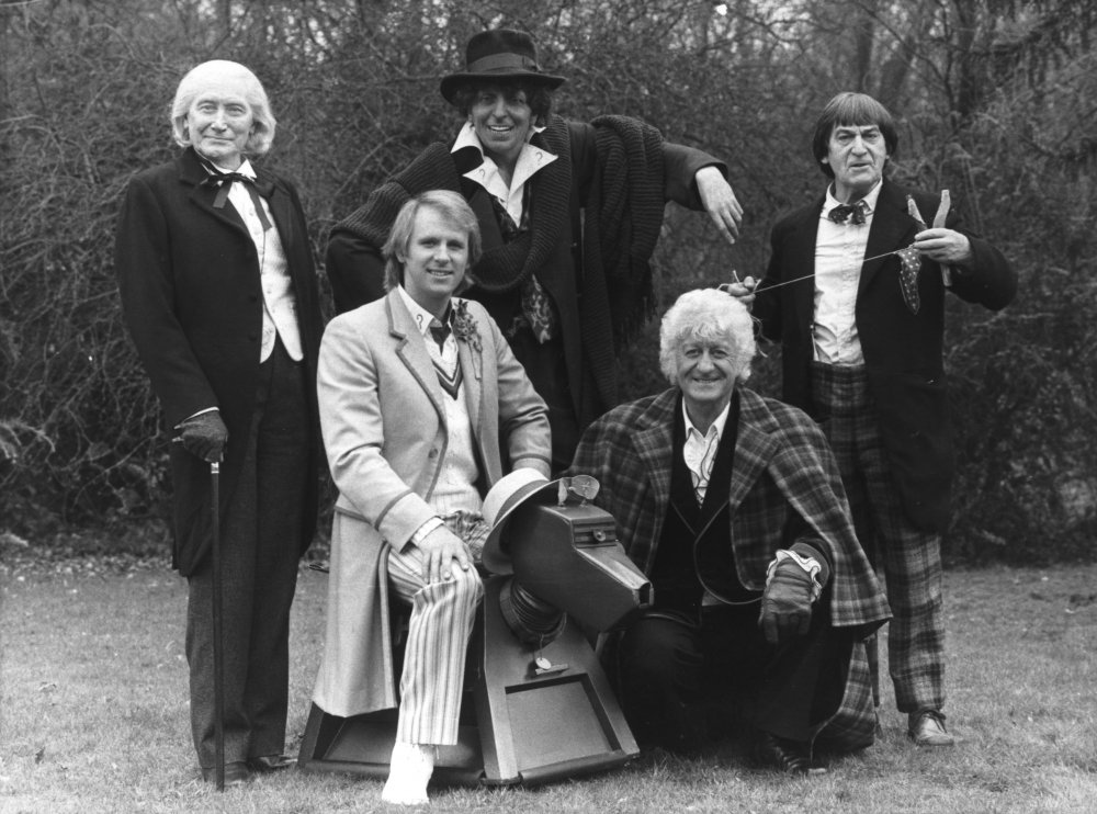 Tom Baker, Jon Pertwee, Patrick Troughton, Richard Hurndall and Peter Davison
