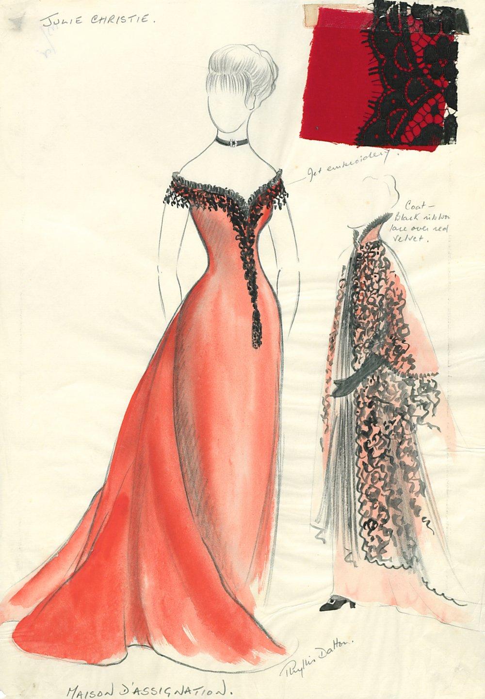 Doctor Zhivago (1965): design for Lara (Julie Christie) by Phyllis Dalton MBE