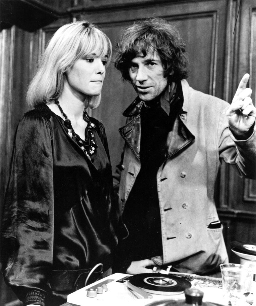 Anita Pallenberg and Donald Cammell on the set of Peformance (1970)