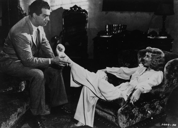 Fred Macmurray and Barbara Stanwyck in Double Indemnity (1944), directed by Billy Wilder