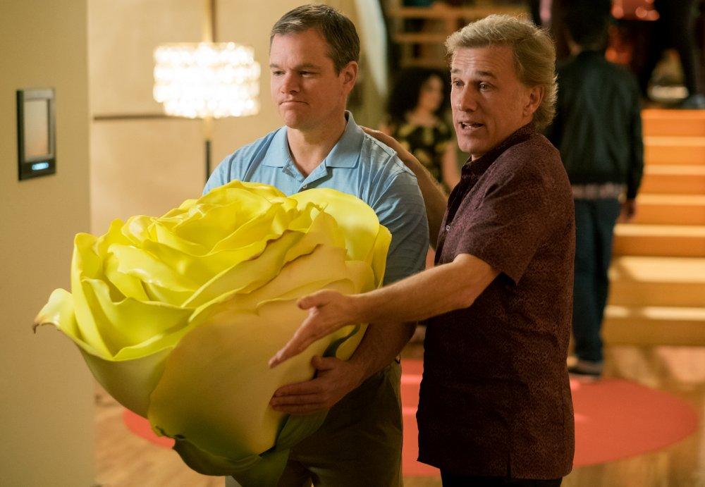 Matt Damon as Paul Safranek and Christoph Waltz as Dusan Mirkovic in Downsizing