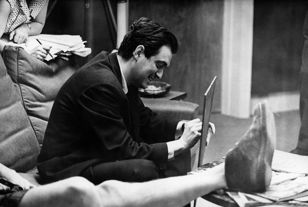Kubrick on set.