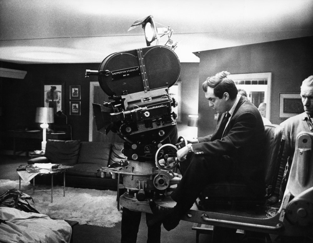 Kubrick behind the camera for the scene in which US general Buck Turgidson (George C. Scott) cavorts with his lover, Miss Scott (Tracy Reed).