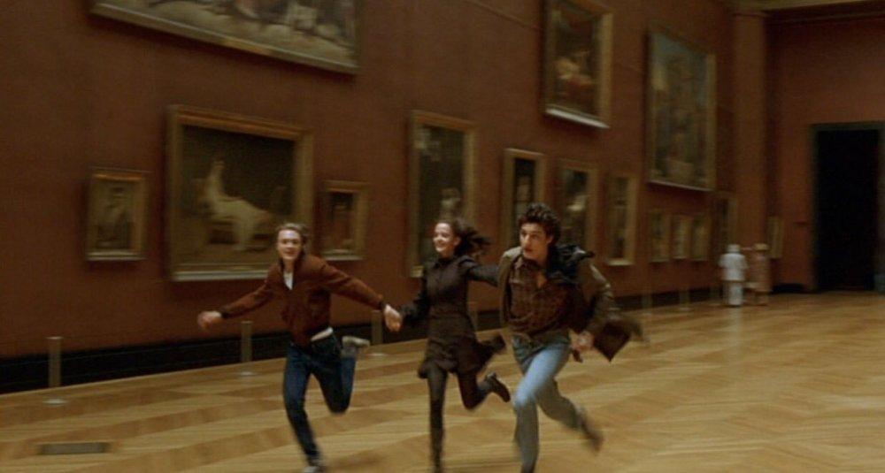 Michael Pitt as Matthew, Eva Green as Isabelle and Louis Garrel as Theo in The Dreamers (Les Rêveurs/I sognatori)