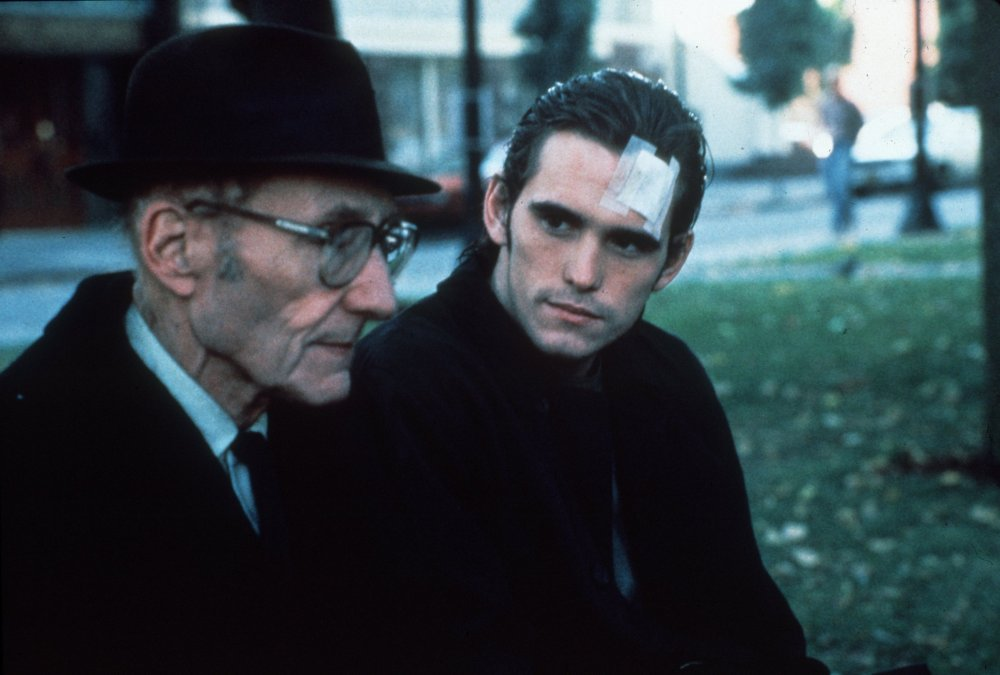 William Burroughs and Matt Dillon in Gus van Sant's Drugstore Cowboy (1989)