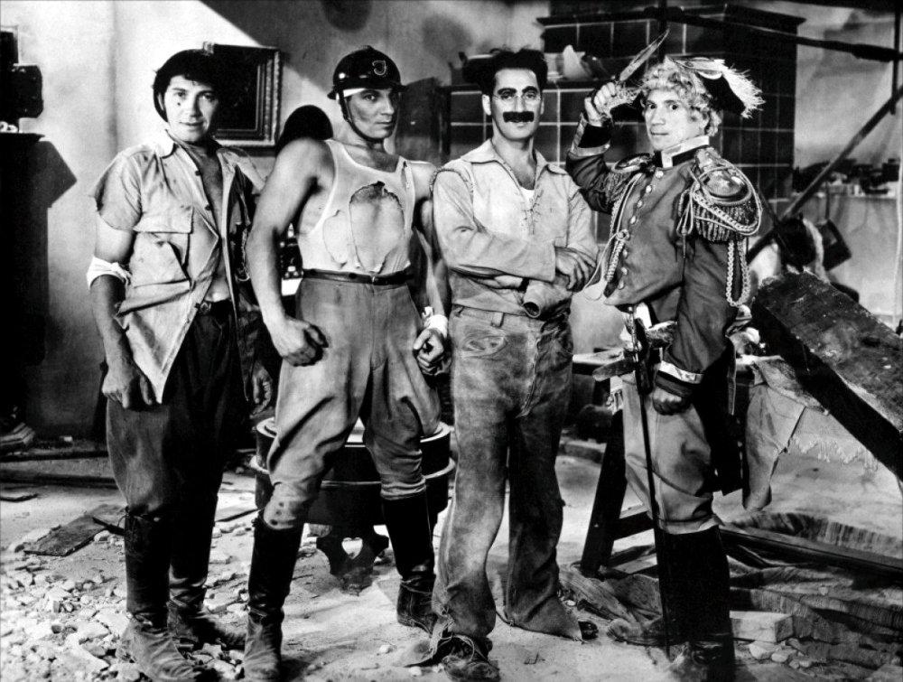 Zeppo as the muscle in Duck Soup (1933)