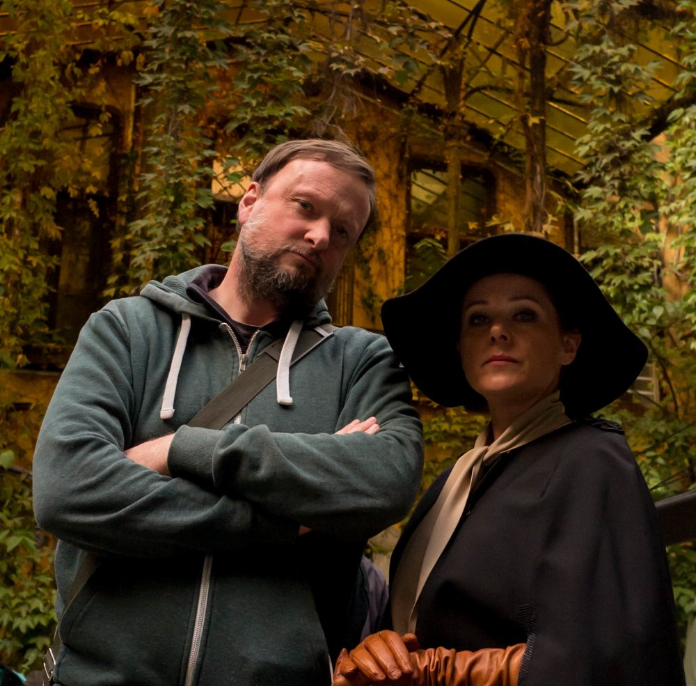 Producer Andy Starke with Sidse Babett Knudsen