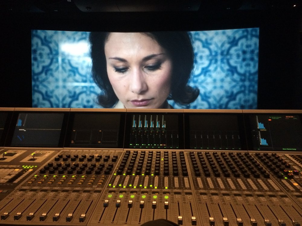 Chiara D'Anna on screen as Evelyn during the colour grading of Peter Strickland's The Duke of Burgundy (2014). The film was graded by Greg Fisher at Company 3 London