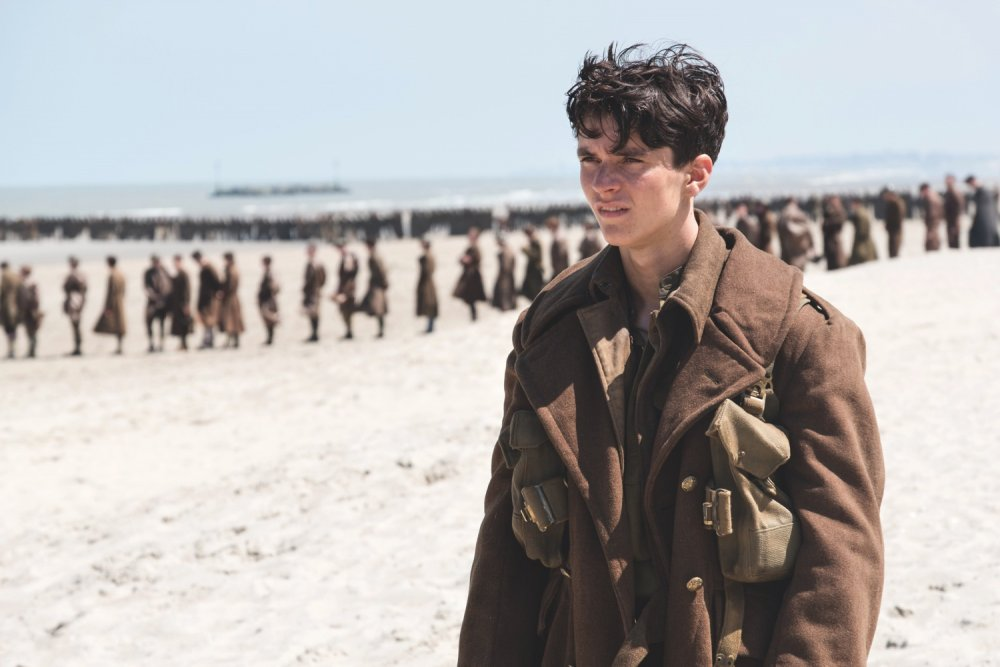 Fionn Whitehead in Christopher Nolan's Dunkirk