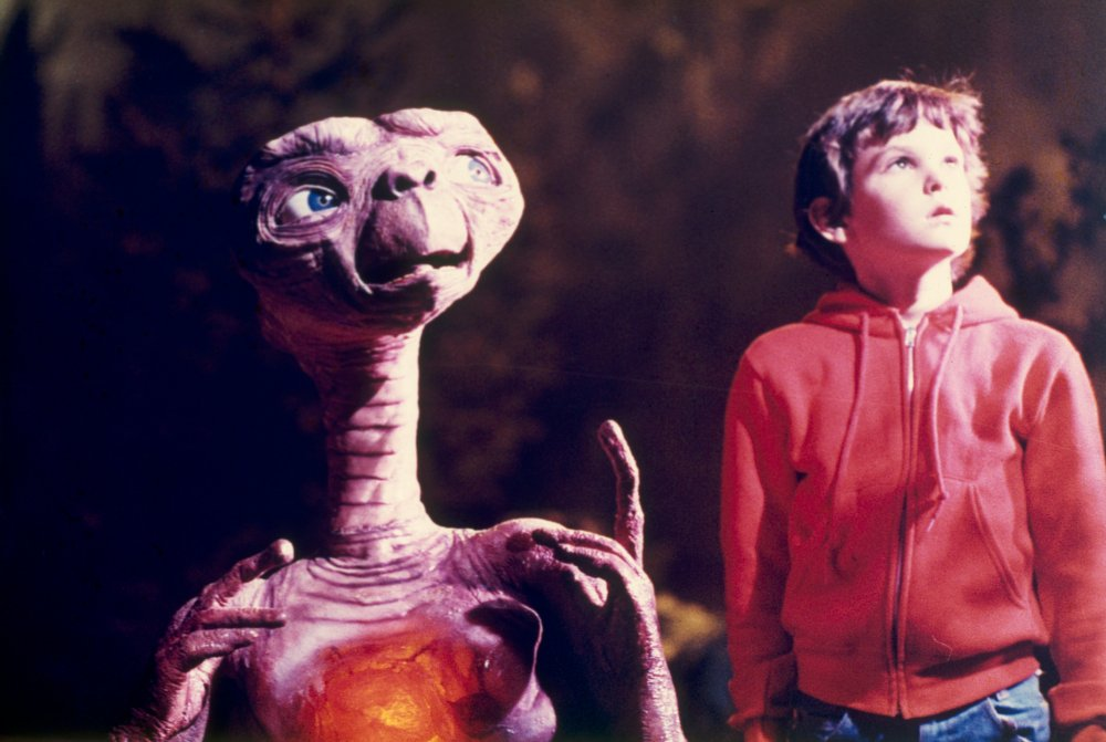 E.T. the Extra-terrestrial (1982): Thomas Henry with E.T.
