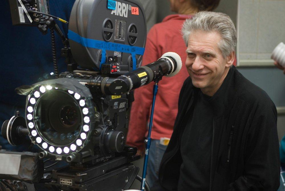 David Cronenberg on the set of Eastern Promises (2007)