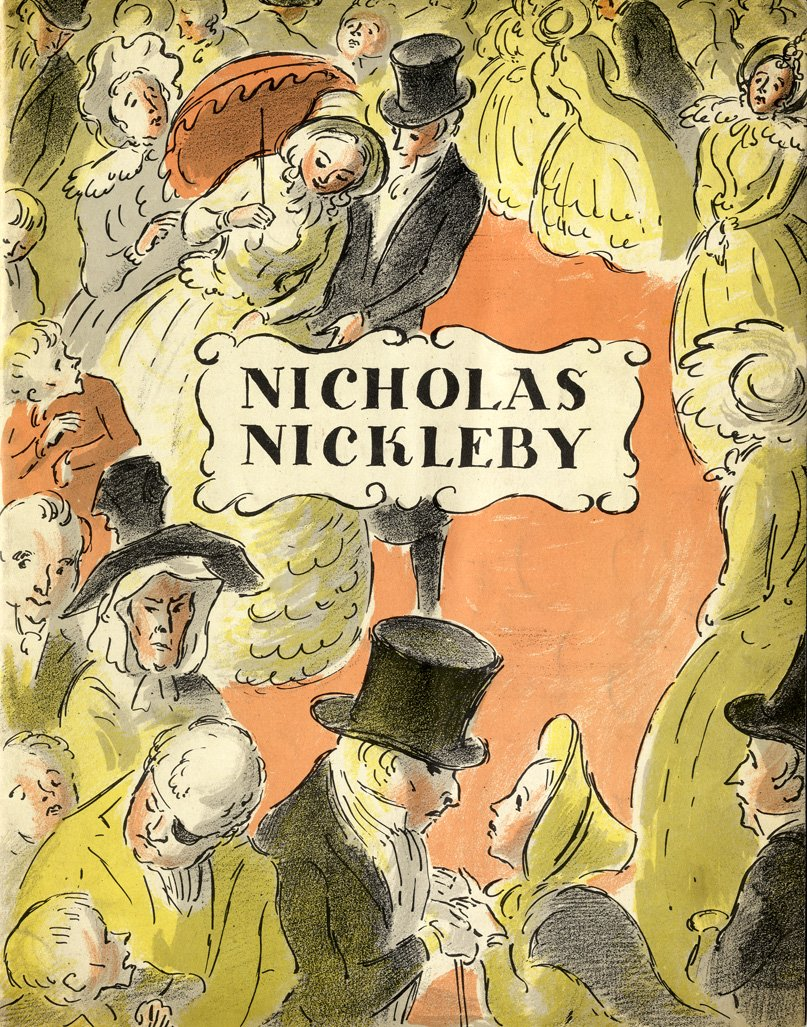Edward Ardizzone pressbook for Nicholas Nickleby