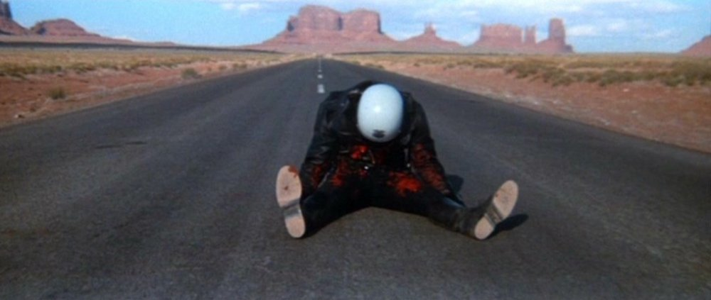 The ending of James William Guercio's Electra Glide in Blue (1973)