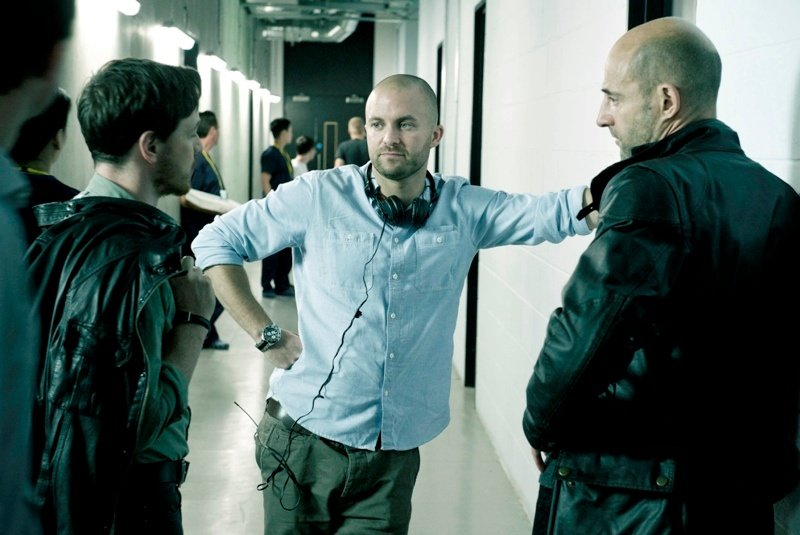 Eran Creevy on set with James McAvoy and Mark Strong