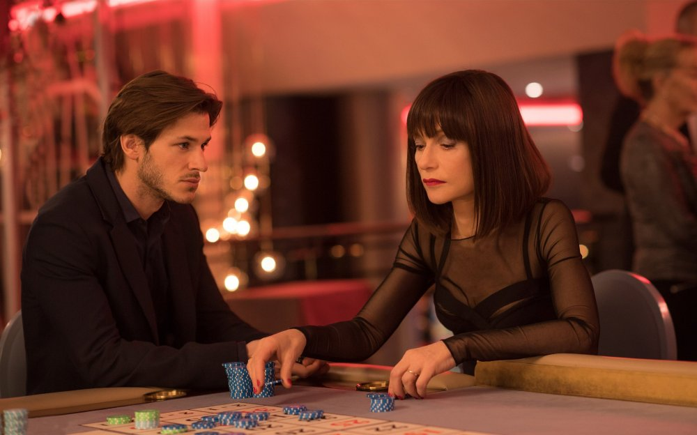 Gaspard Ulliel as Bertrand and Isabelle Huppert as Eva in the film of the latter name