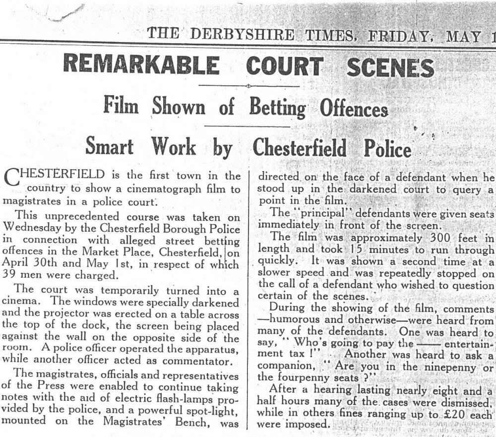 Article in The Derbyshire Times, 13 May 1935