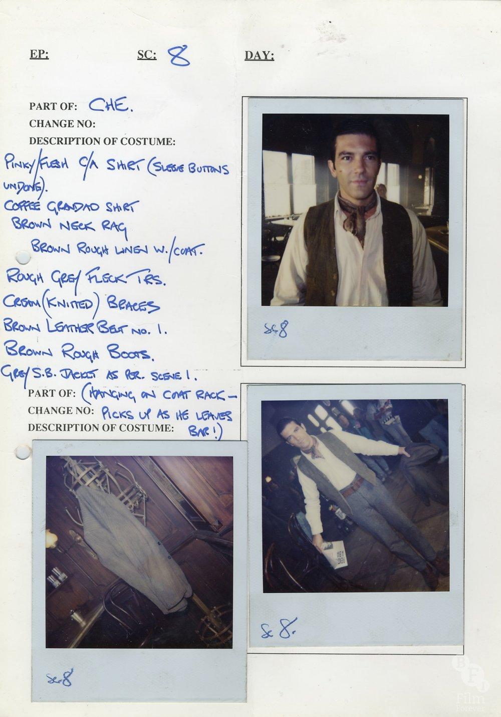 Evita (1996) costume continuity