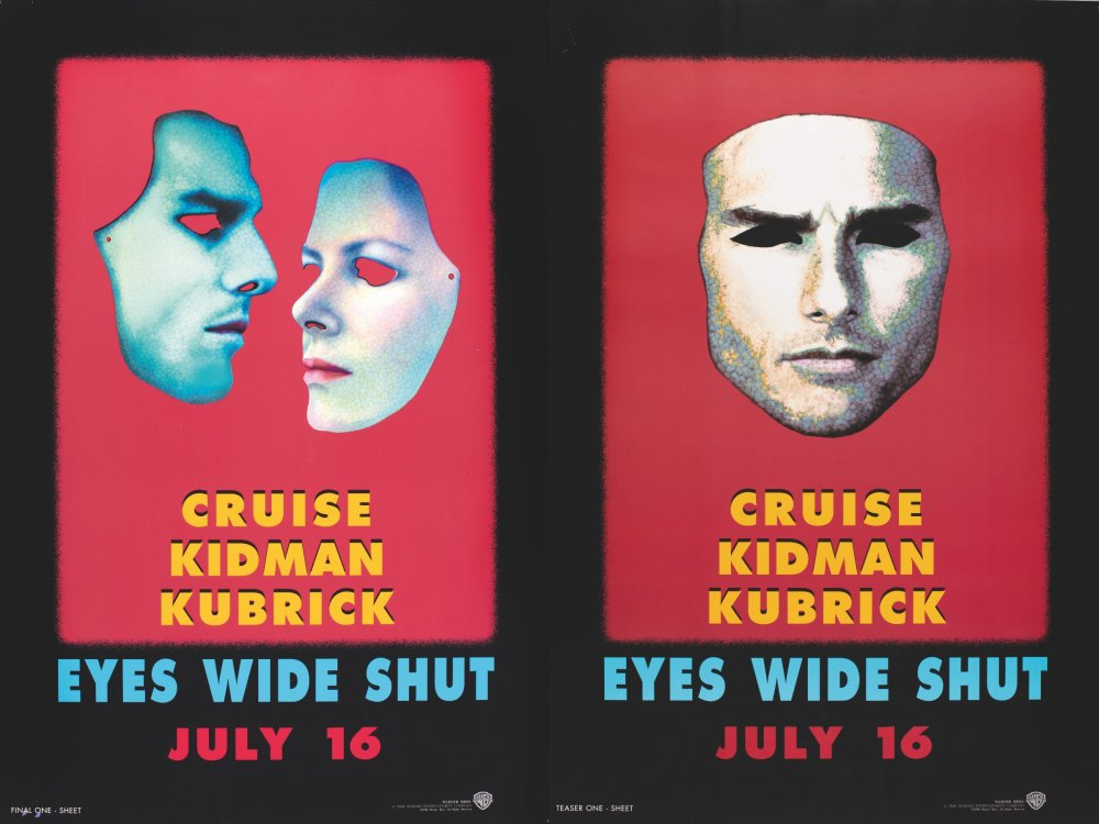 Unused poster designs for Eyes Wide Shut (1999) by Christiane and Katharina Kubrick