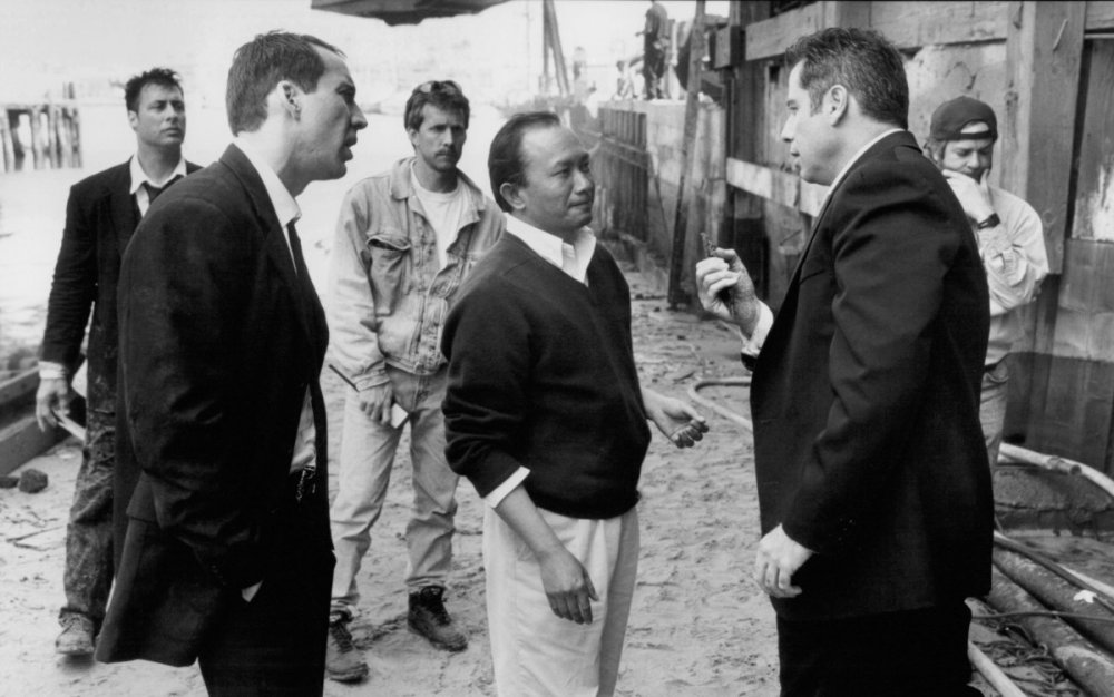 John Woo directing Face/Off (1997)