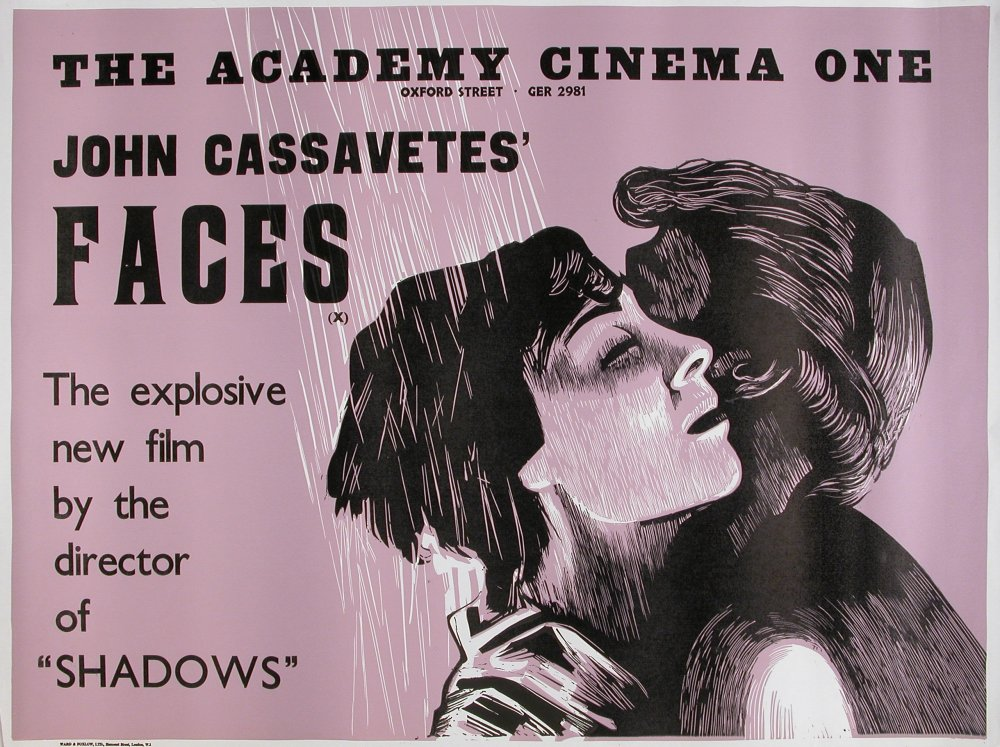 Academy Cinema poster for Faces (1968)
