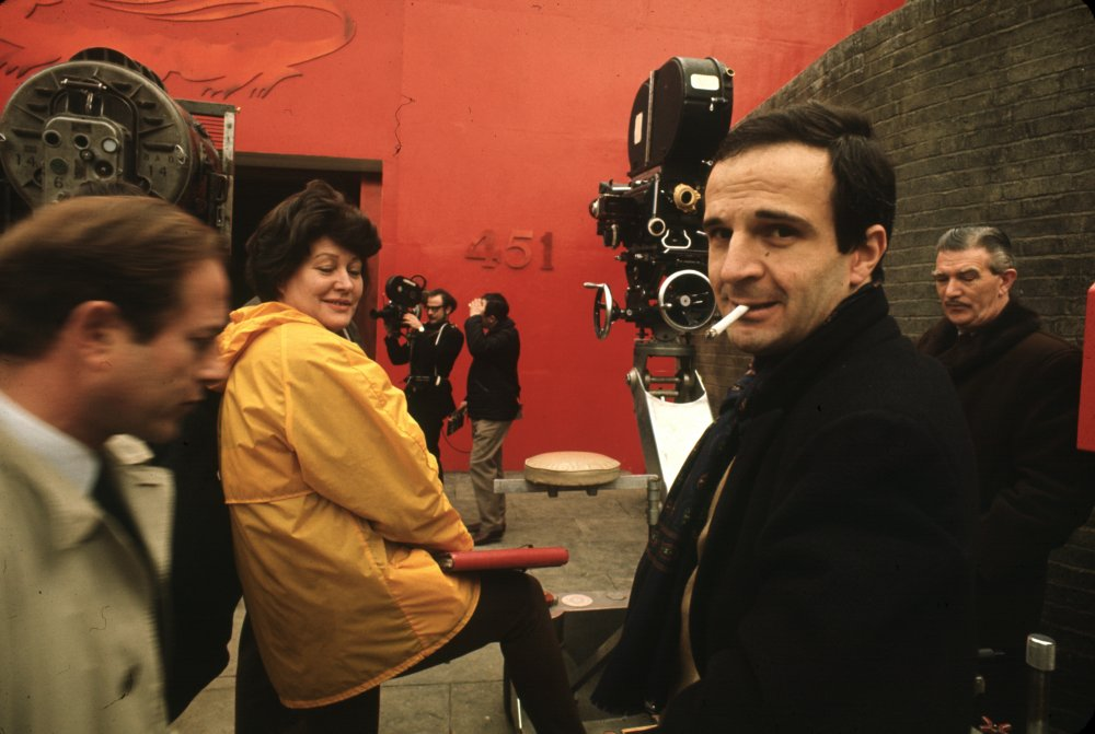Nicolas Roeg (left) and François Truffaut (right) on the set of Fahrenheit 451 (1966)