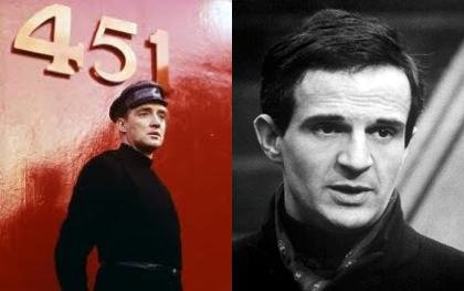 Oskar Werner and François Truffaut
