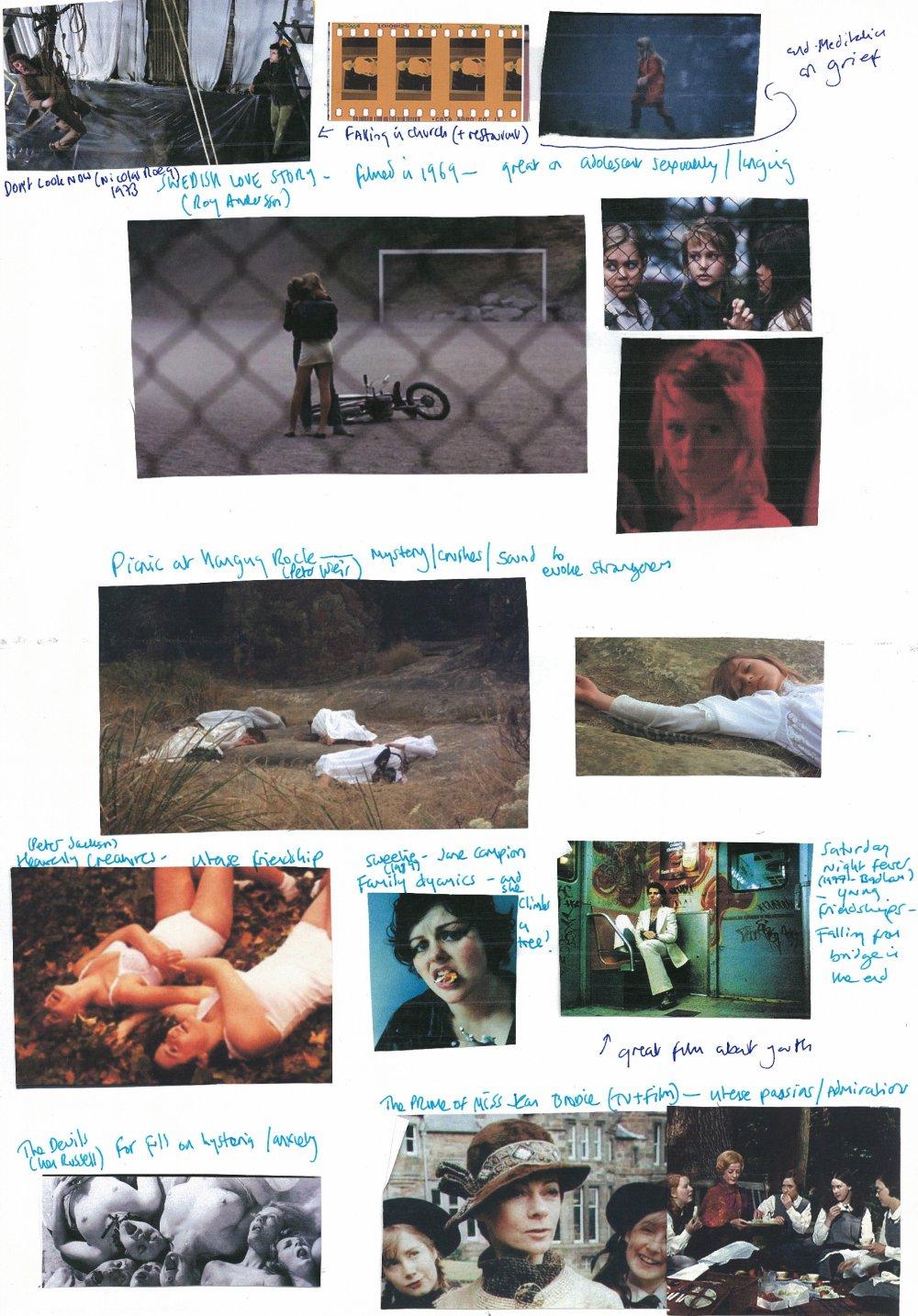 Carol Morley's scrapbook for The Falling (2014)