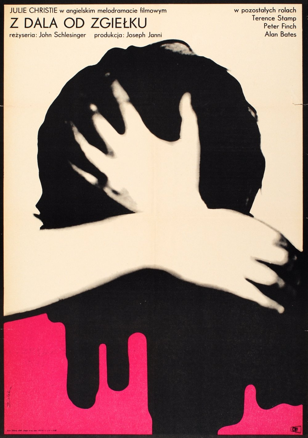 Poster for Far from the Madding Crowd (1967) by Bronisław Zelek