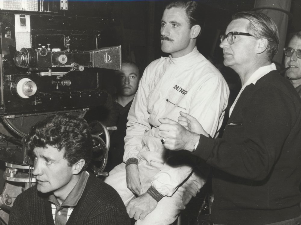 Annakin (right) during production of The Fast Lady (1962)