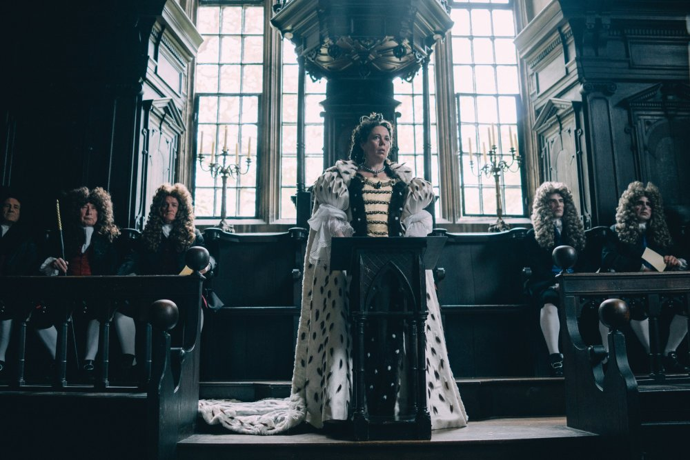 Olivia Coleman as Queen Anne in Yorgos Lanthimos's The Favourite
