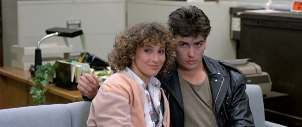 Teens can make instant connections that are both fleeting and enlightening. Jeanie's passionate encounter with a young man  in the police station – played, in prophetic cameo, by Charlie Sheen – lifts her bitter mood and makes her take a look at her motives for hating Ferris…