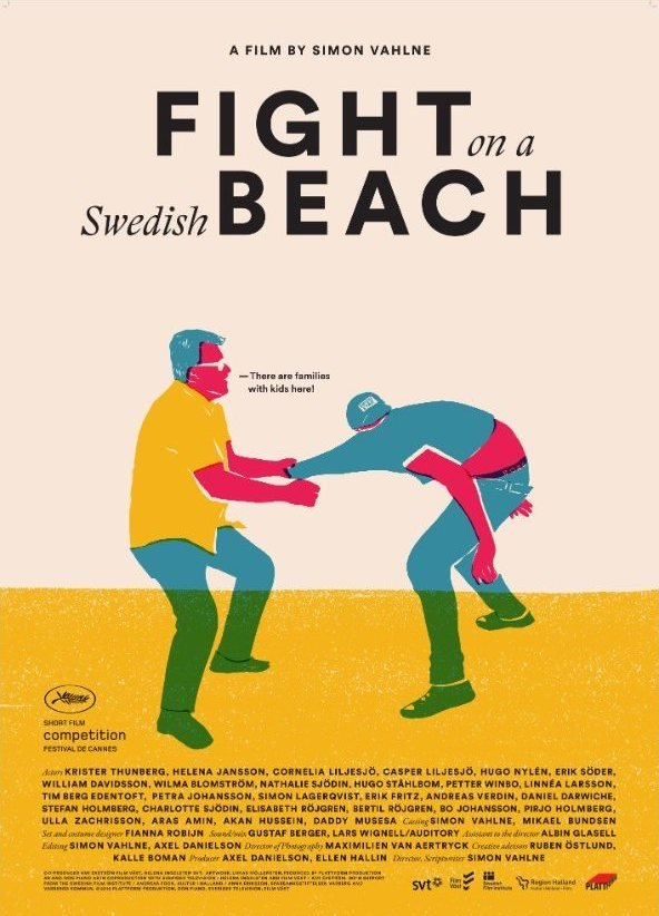 The Cannes festival poster for Fight on a Swedish Beach (2016)