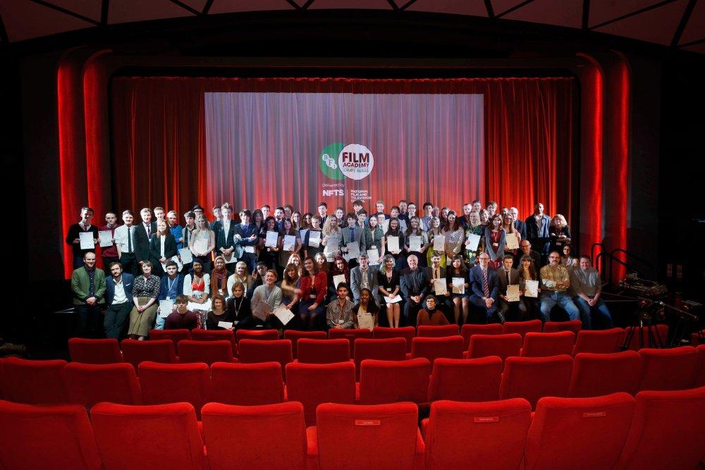The BFI Film Academy 2015 graduates at BFI Southbank