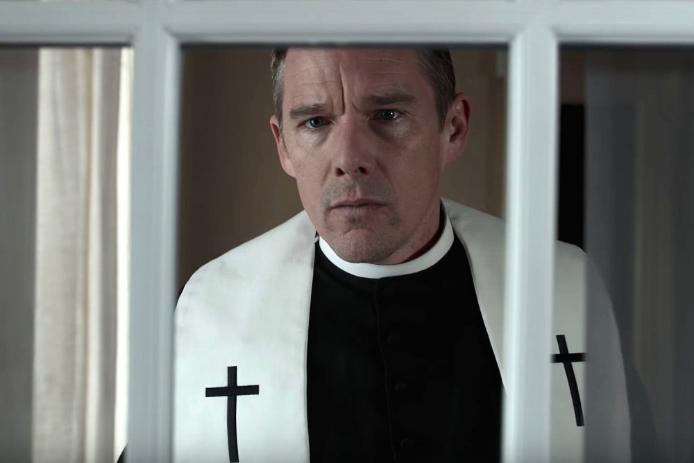 Ethan Hawke as Reverend Ernst Toller in First Reformed