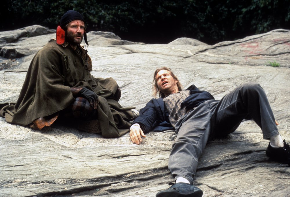 Terry Gilliam cast Robin Williams as a homeless man searching for the Holy Grail in 1991's The Fisher King, co-starring Jeff Bridges