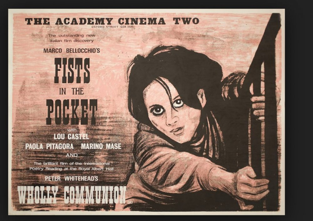 The UK quad poster for Fists in the Pocket (1965)