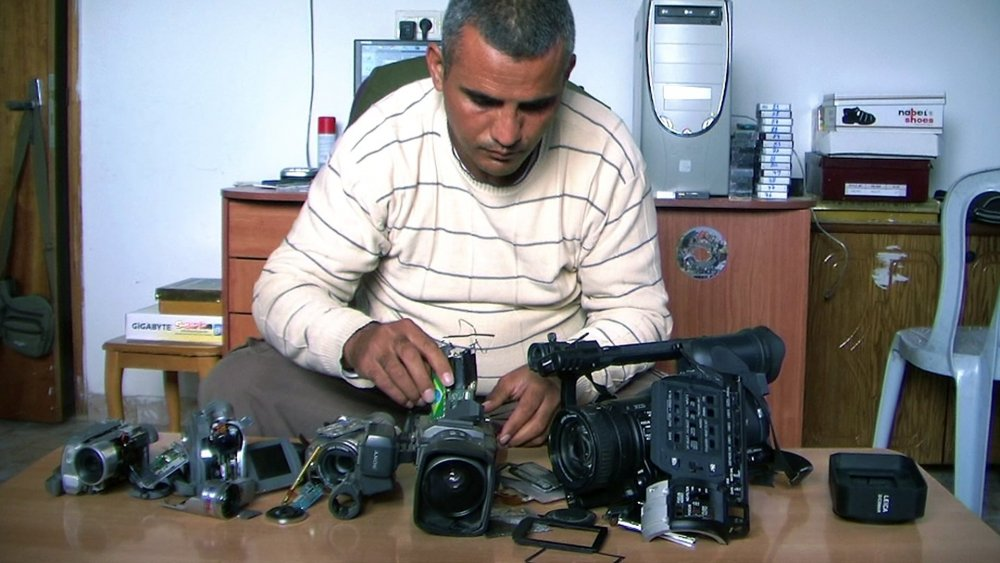 Man with five movie cameras: Palestinian filmmaker Emad Burnat
