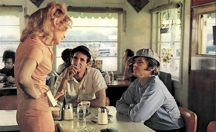 As Rayette, with Jack Nicholson in Five Easy Pieces (1970)