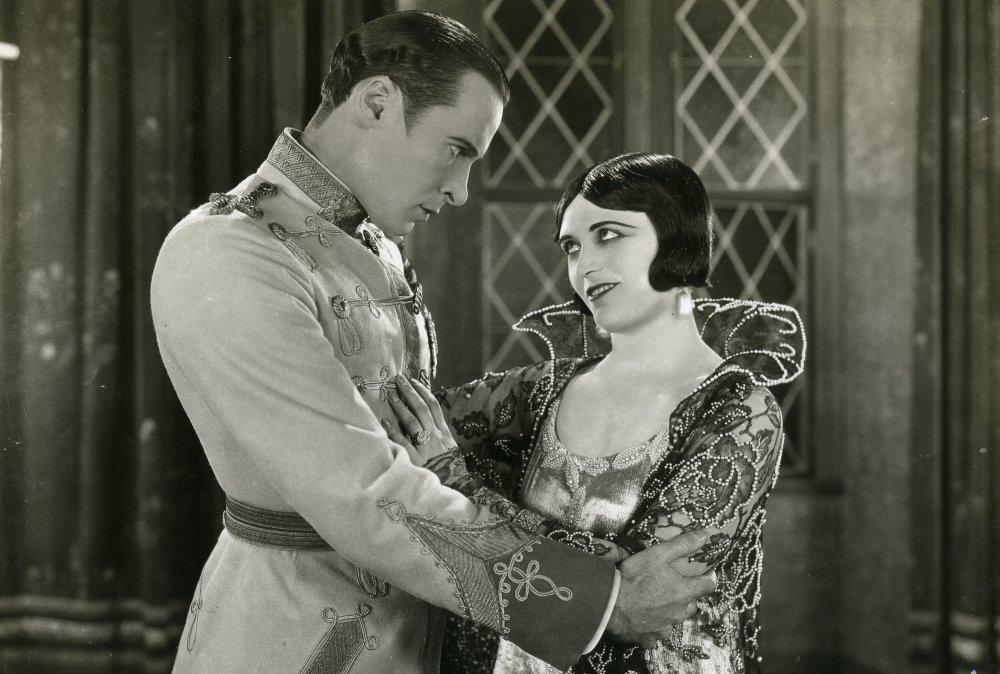 Rod la Rocque as Captain Alexei Czerny and Pola Negri as Tsarina Catherine in Forbidden Paradise (1924)