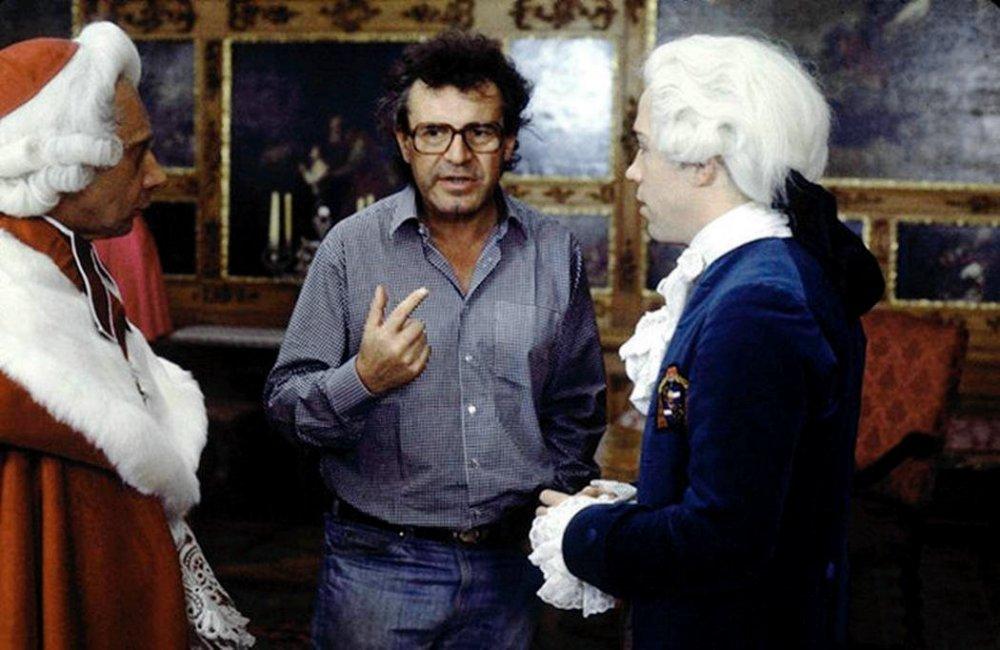 Milos Forman directing Amadeus (1984)