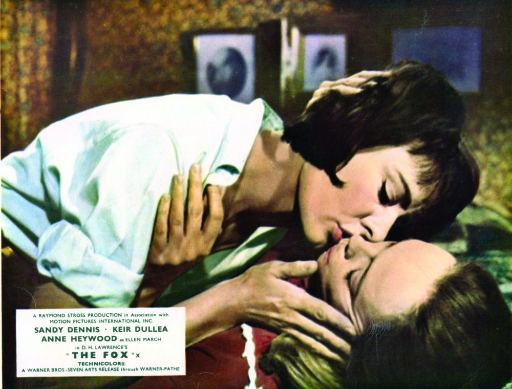 Anne Heywood and Sandy Dennis in a publicity shot from The Fox (1967)