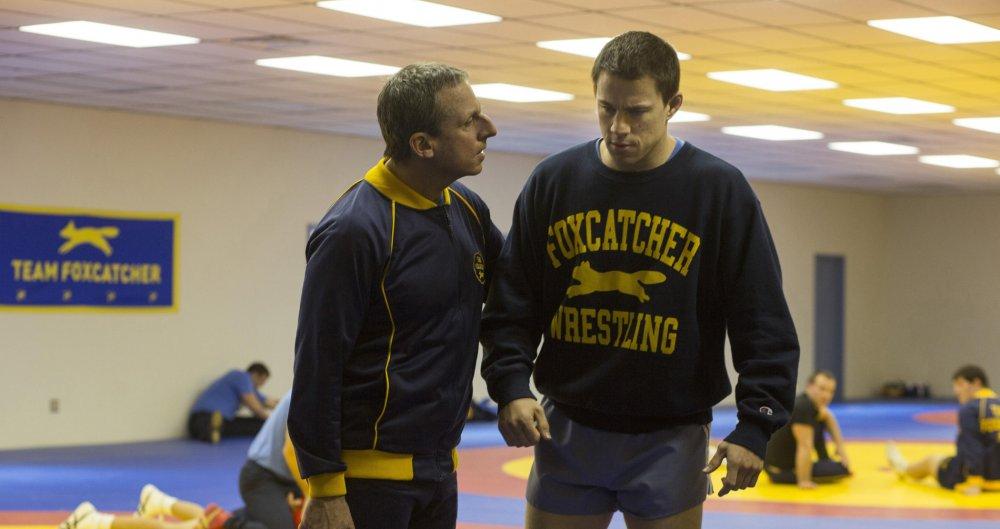 Steve Carell and Channing Tatum in Bennett Miller's Foxcatcher