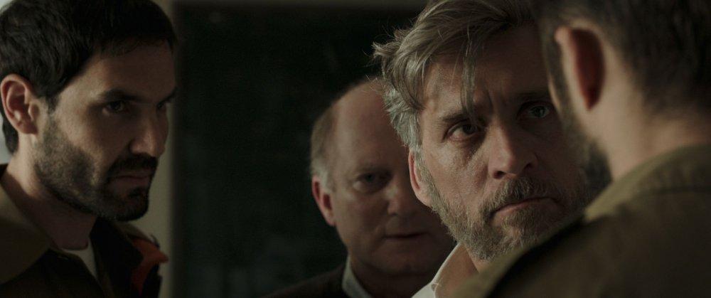 Lior Ashkenazi as bereaved father Michael Feldmann in Samuel Maoz's Foxtrot