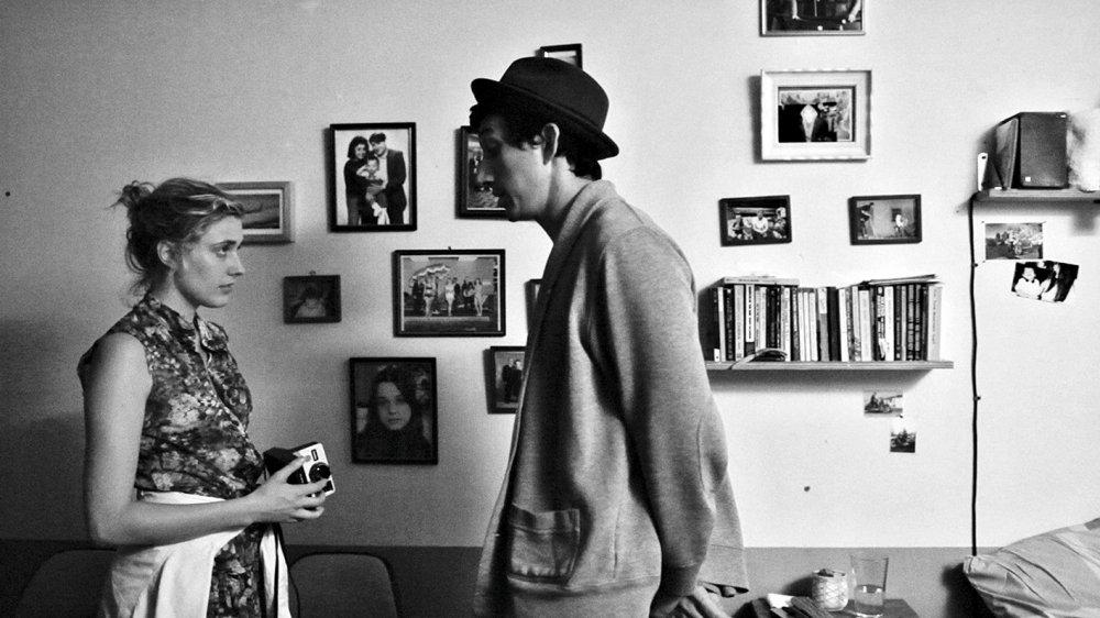 Greta Gerwig as Frances and Adam Driver as Lev in Frances Ha