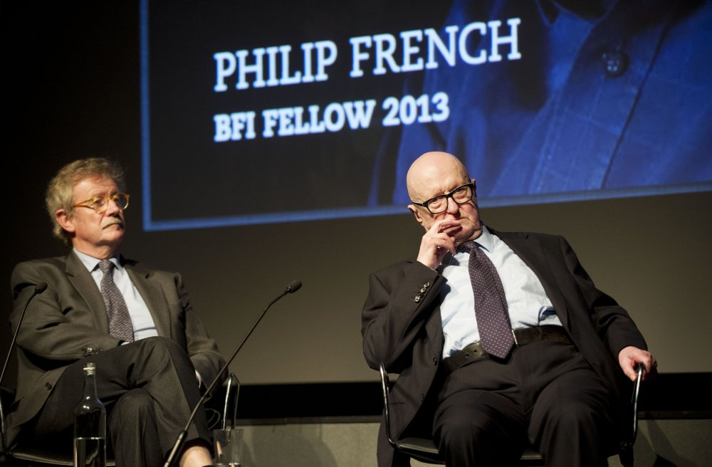 Philip French receiving his BFI Fellowship in 2013 at the BFI Southbank, where he was interviewed by Sir Christopher Frayling
