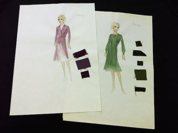Costume designs for Hitchcock's Frenzy (1972)