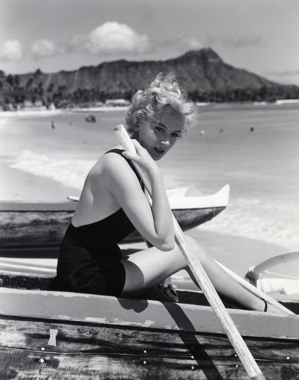 Deborah Kerr on location in Hawaii