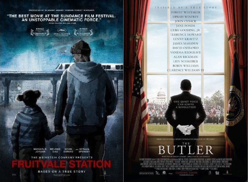 Rückenfigur posters for Ryan Coogler's Fruitvale Station and Lee Daniels's The Butler